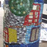 closeup of hundertwasser mosaic