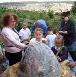 Making the clay oven -Whitehawk Food Project