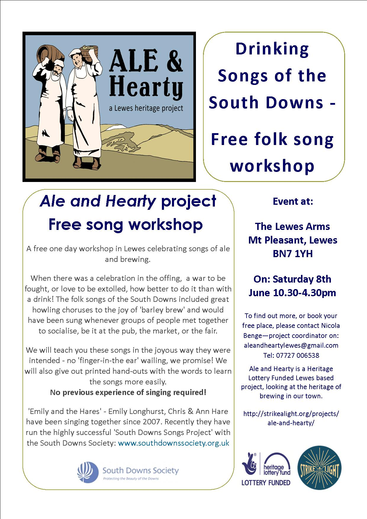 ale and hearty singing workshop