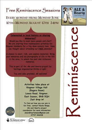 Ale and hearty reminiscence poster nutmeg