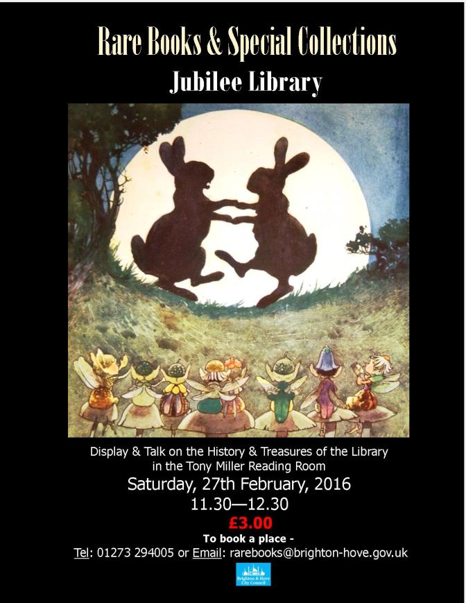 Rare Books events at Jubilee Library
