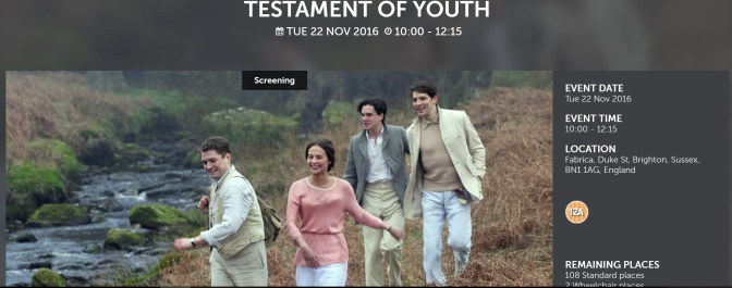 Testament of Youth-free film screening