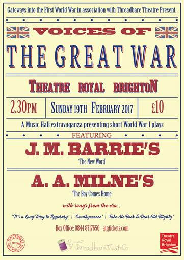 Voices of the the Great War show by Threadbare Theatre