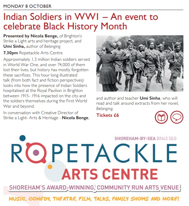 Strike a Light Indian Soldiers in WWI talk – 8th October